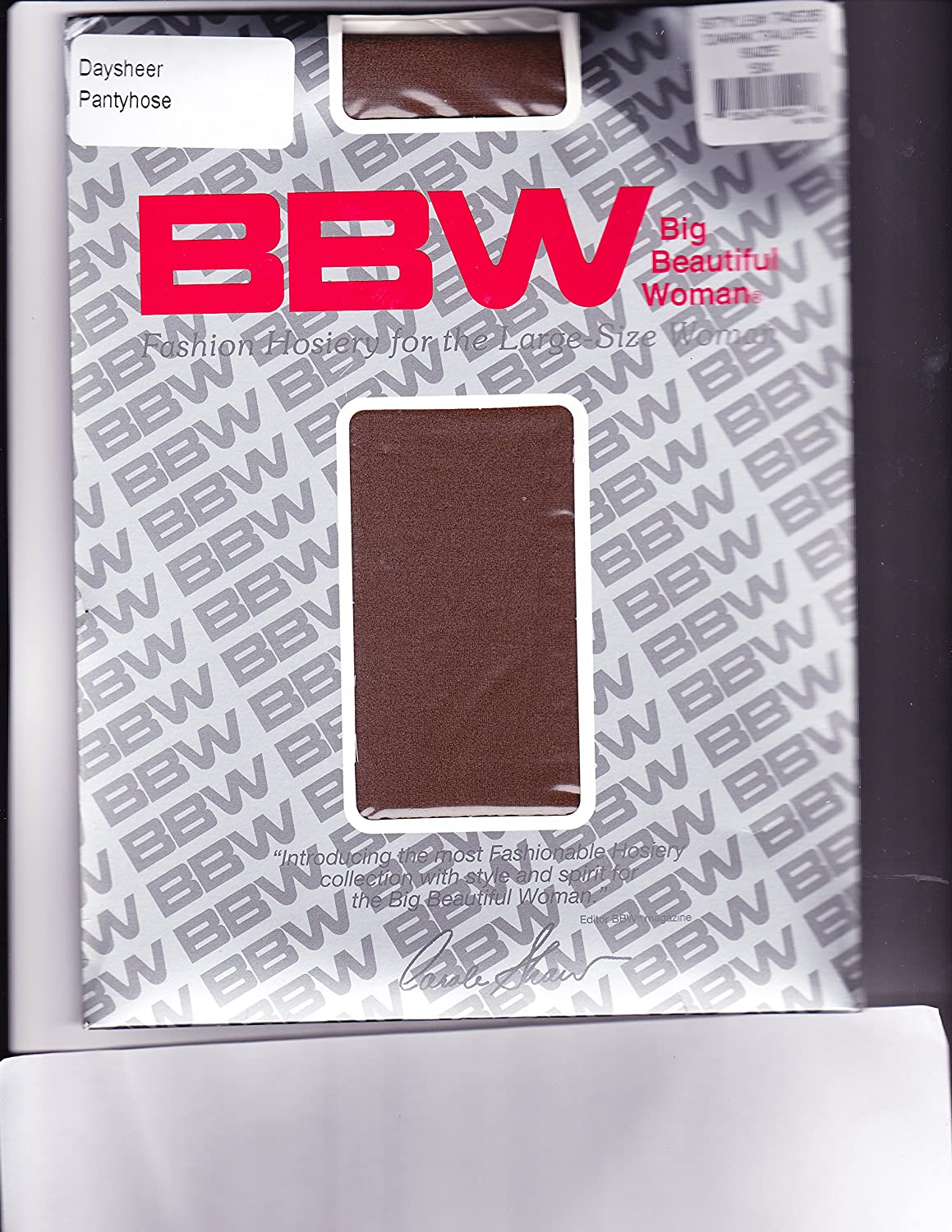 BBW Fashion Hosiery for Large Size Women 3 Pair Pack 5X Dark Taupe