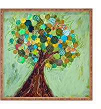 Deny Designs Elizabeth St Hilaire Nelson Spring Tree Indoor/Outdoor Square Tray, 12 x 12