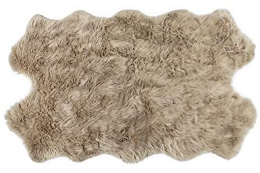 Nouvelle Legende Faux Fur Sheepskin Premium Rug Quattro (43 in. X 73 in.) Tan