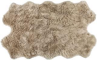 Nouvelle Legende Faux Fur Sheepskin Premium Rug Quattro (43 in. X 73 in.) Tan