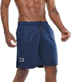 G Gradual Men's 7 Workout Running Shorts Quick Dry Lightweight Gym Shorts with Zip Pockets