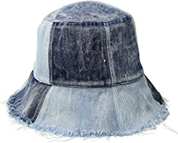 Patched Denim Bucket