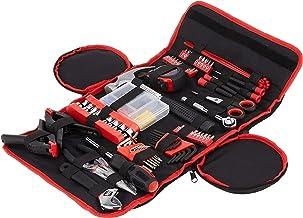 مجموعة أدوات يدوية منزلية (86 قطعة) مع حقيبة قابلة للطي من ستالوارت (مطرقة، مجموعة مفاتيح ربط، مجموعة مفكات براغي، زرادية)...