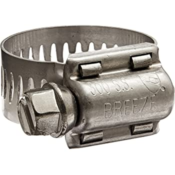 Pack of 10 Breeze T-Bolt Stainless Steel Hose Clamp Standard T-Bolt SAE Size 40 2.13 to 2.44 Diameter Range 3//4 Bandwidth
