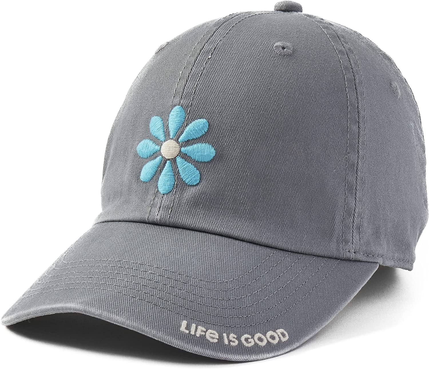 Manufacturer regenerated product Life is Good Genuine Unisex-Adult Chill Ha Embroidered Cap Brim Baseball