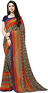 Anand Sarees georgette with blouse piece Saree (1499_ Blue_ one size)