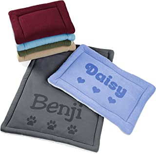 Custom Catch Personalized Dog Mat - Gift for Crate Cushion, Puppy Sleeping Blanket, Kennel Bed Pad - Small, Large, X Large...
