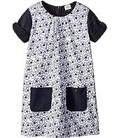 Armani Junior - Eyelet Floral Dress (Toddler/Little Kids/Big Kids)