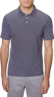 Hickey Freeman Silver Mens Short Sleeve 3 Button Polo Sweater