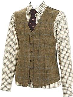 Samuel Windsor Men's 100% Wool Tweed Waistcoat