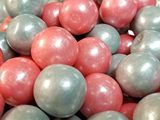 Gumballs Shimmer Pearl Pink And Silver Bubble Gum 2 Pounds 1 inch Gumballs
