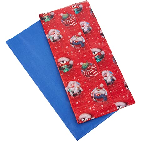 Tissue Paper 8 Sheets Printed Red Do Not Open Design 2760 2761
