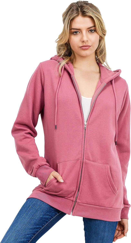 esstive Women's Ultra Soft Fleece Oversized Comfortable Casual Lightweight Active Full Zip Hoodie Jacket Sweatshirt