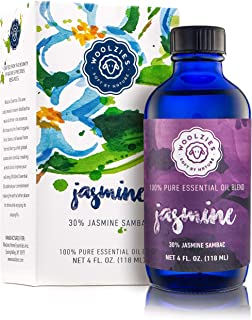 Woolzies Jasmine Essential Oil Blend 4 Fl Oz   Helps Be Positive Happy Relaxed Confident & Boost Mood  Enhances Sleep  Nat...