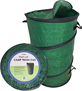 Oswego Pop-Up Collapsible Travel Camping Trash Can (Light Green, 20 Gallon)