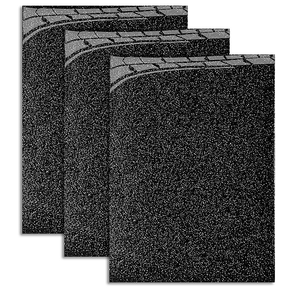MiPremium Glitter Black Heat Transfer Vinyl, Glitter Iron On Vinyl 10