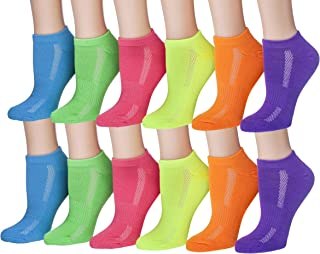 Tipi Toe Women's 12-Pairs Low Cut/No Show Athletic Sport Socks