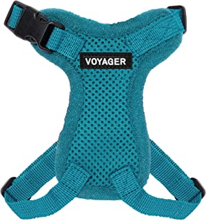 Voyager Step-in Lock Cat Harness - Adjustable Step-in Vest Harness for Small and Large Cats - Turquoise (Matching Trim), X...