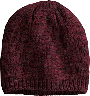 District Women's Spaced-Dyed Beanie, Maroon/Black