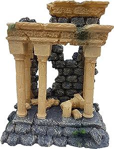 Large Roman Column Arch Greek Ruins Aquarium Fish Tank Decoration Ornament, Fish Tank Landscape Decor
