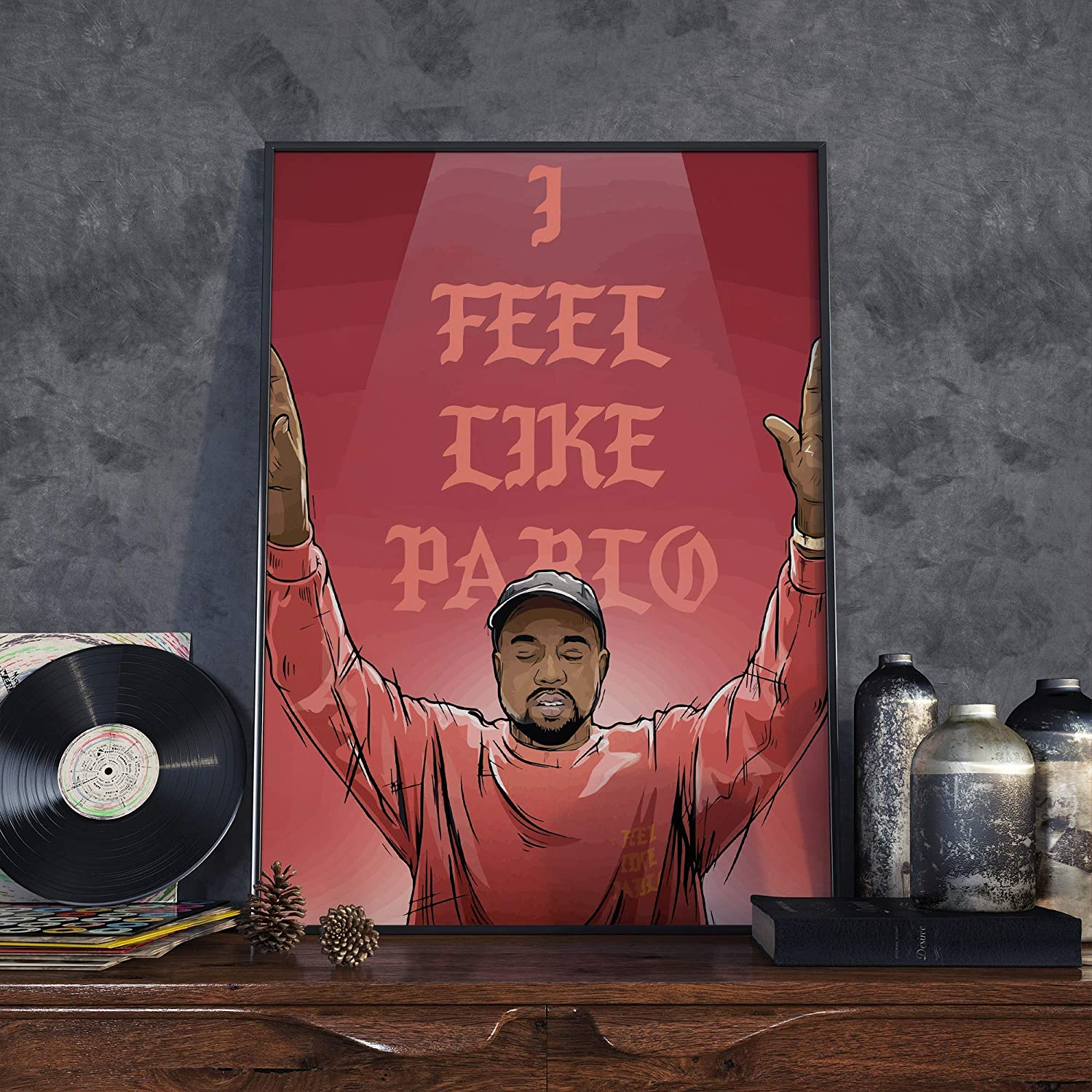 Kanye West High order Poster - Albuquerque Mall 'I Feel A2 Size Like Pablo'