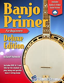Banjo Primer Book For Beginners Deluxe Edition (Audio & Video Access)