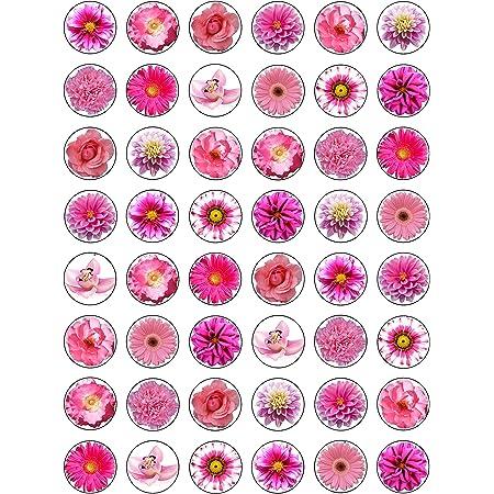 Couleurs Assorties Dekora Paquet de 36 Roses en Gaufre comestibles pour d/écorations des g/âteaux Rose, Blanc, Rouge