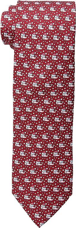 Santa Whale Printed Tie