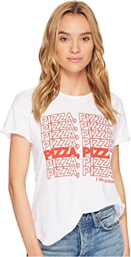 The Original Retro Brand - Pizza Pizza Slub Cotton Rolled Short Sleeve Tee