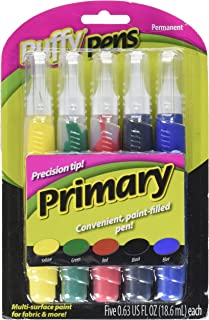 I Love To Create 26196 5-Piece Puffy Paint Pen Set, Primary