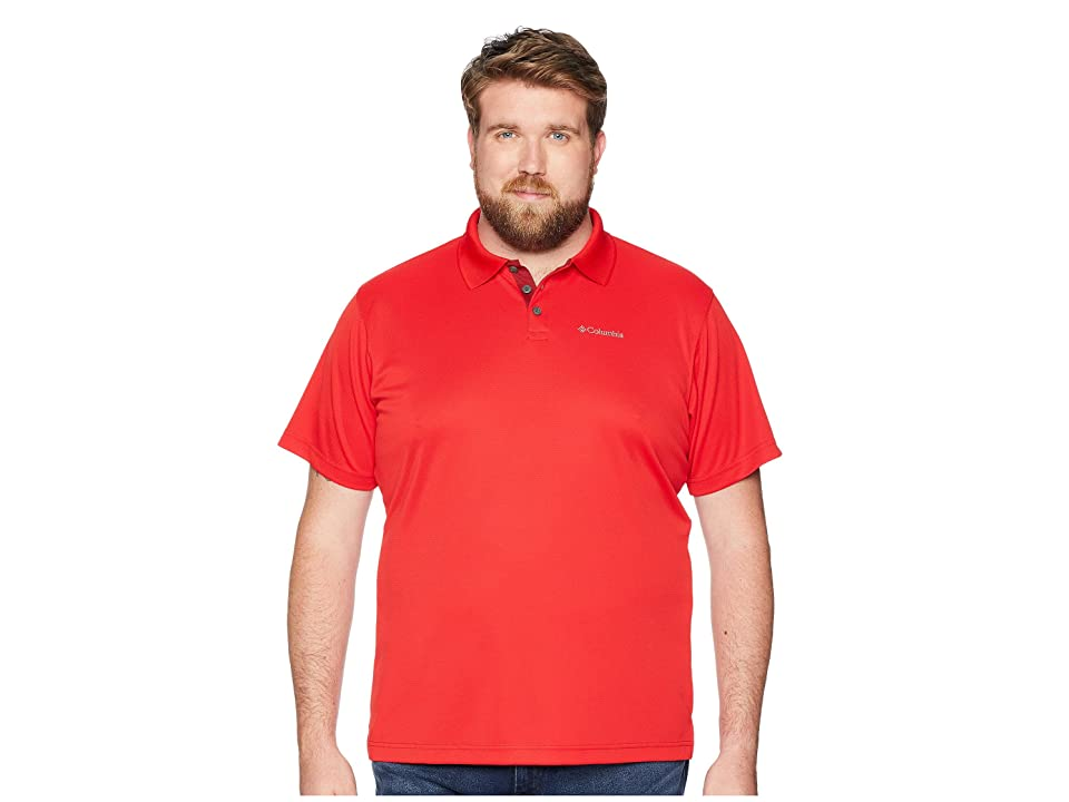 Columbia Big Tall Utilizer Polo (Red Spark/Elderberry/Red Element) Men