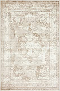 Unique Loom 3134070 Area Rug, 4' x 6' Rectangle, Beige