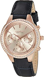 Caravelle New York Women's 44L183 Analog Display Quartz Blue Watch