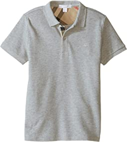 Burberry Kids - Short Sleeve Polo Shirt with Check Placket (Little Kids/Big Kids)