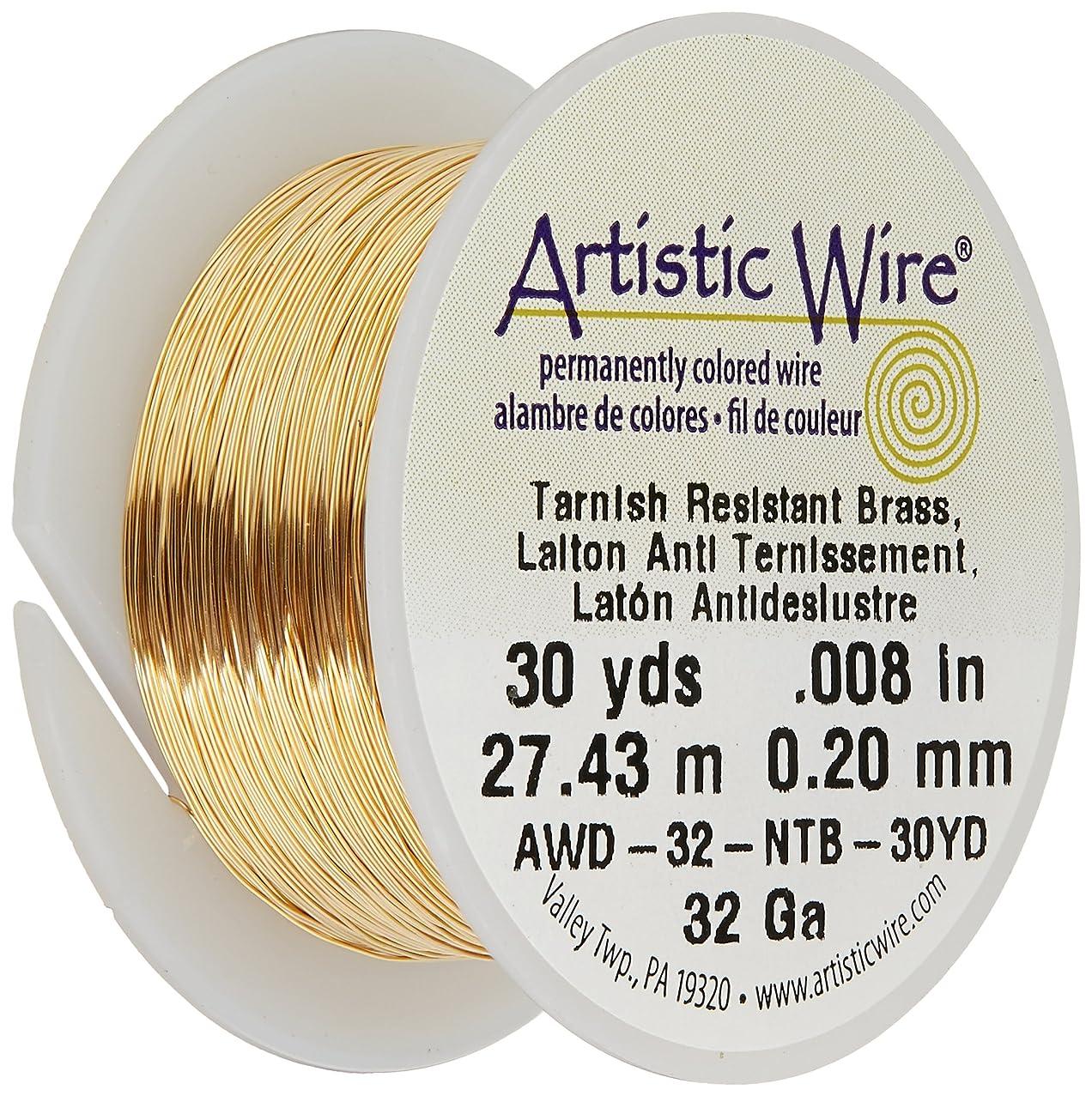 Artistic Wire 32-Gauge Non-Tarnish Brass Wire, 30-Yards