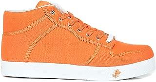 Vlado Footwear Spectro Mid Canvas Sneakers-Orange-8