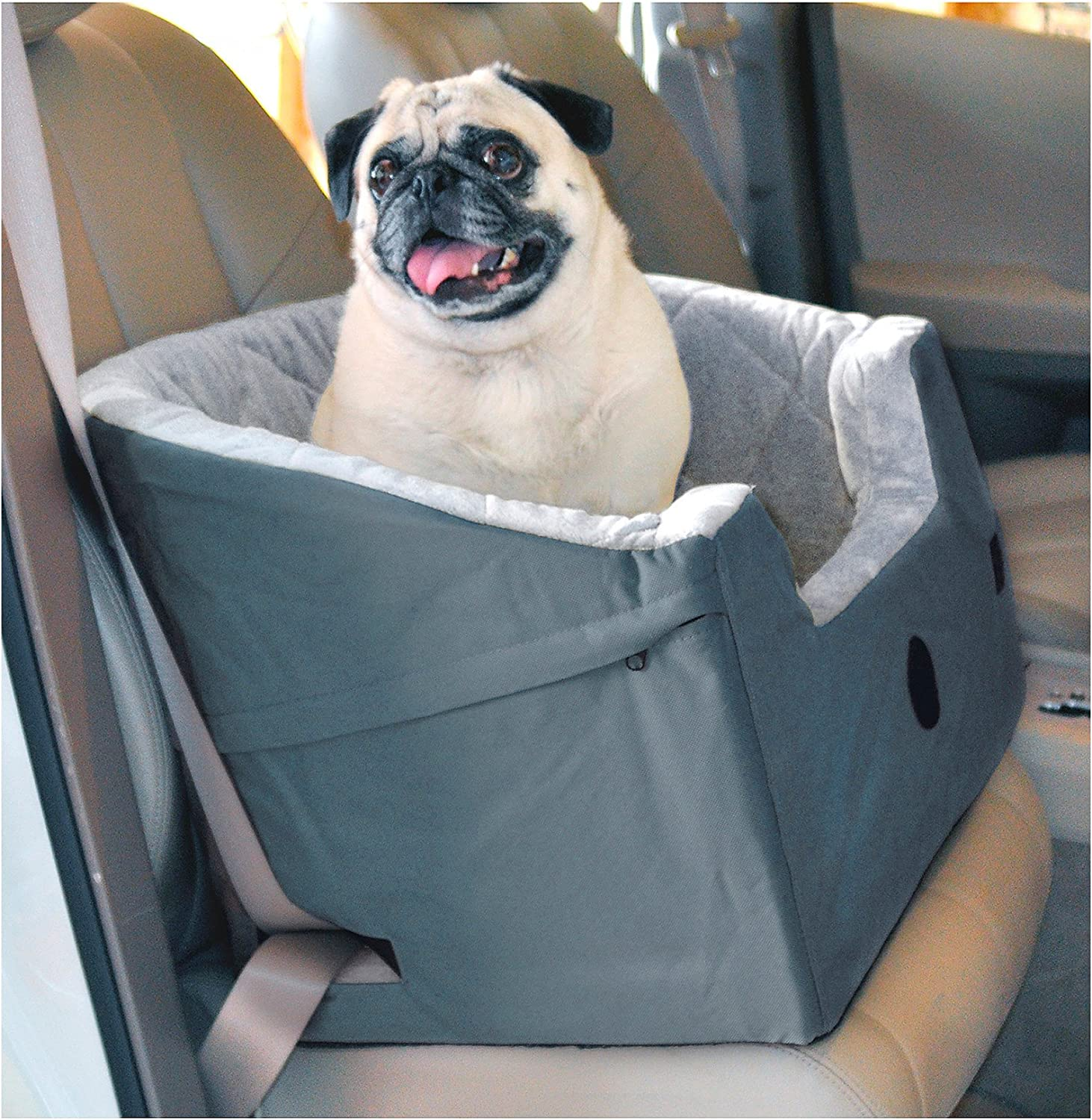 Dog Car Seats  Bucket Booster Pet Seat  Small Grey