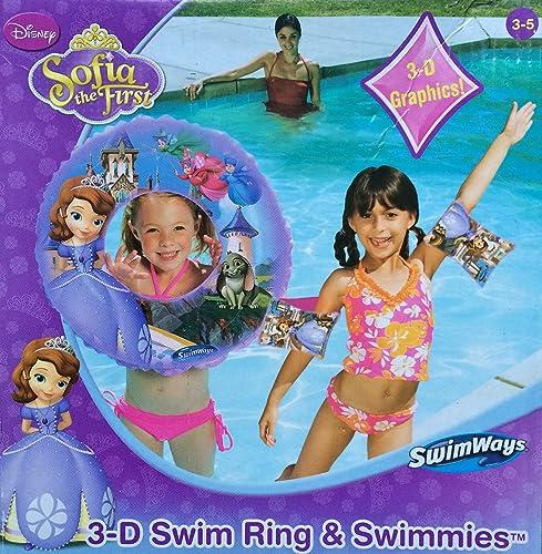 Disney's Sofia the First 3-D Swim Ring & Swimmies (Arm Floats) by SwimWays