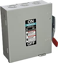 SIEMENS GF321N 30 Amp, 3 Pole, 240-Volt, Fused, W/N General Duty, Indoor Rated