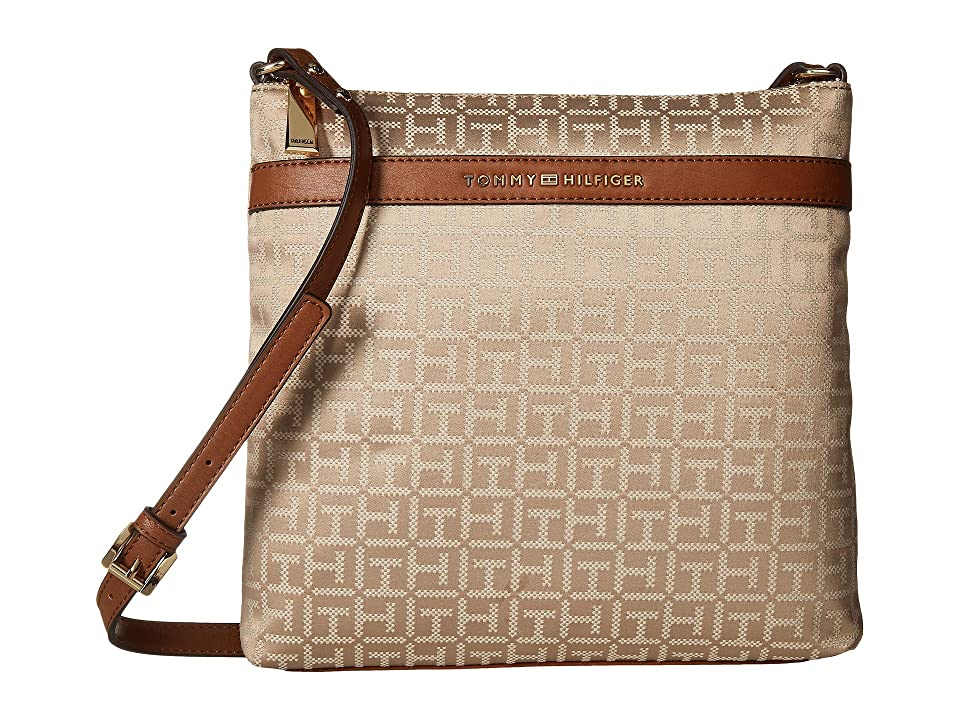 Tommy Hilfiger Abington Large North/South Crossbody (Khaki Tonal) Cross Body Handbags