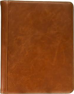 Leather Padfolio with 3 Ring Binder, Organizer Binder Folder Portfolio for A4 Notepad Notebook Documents