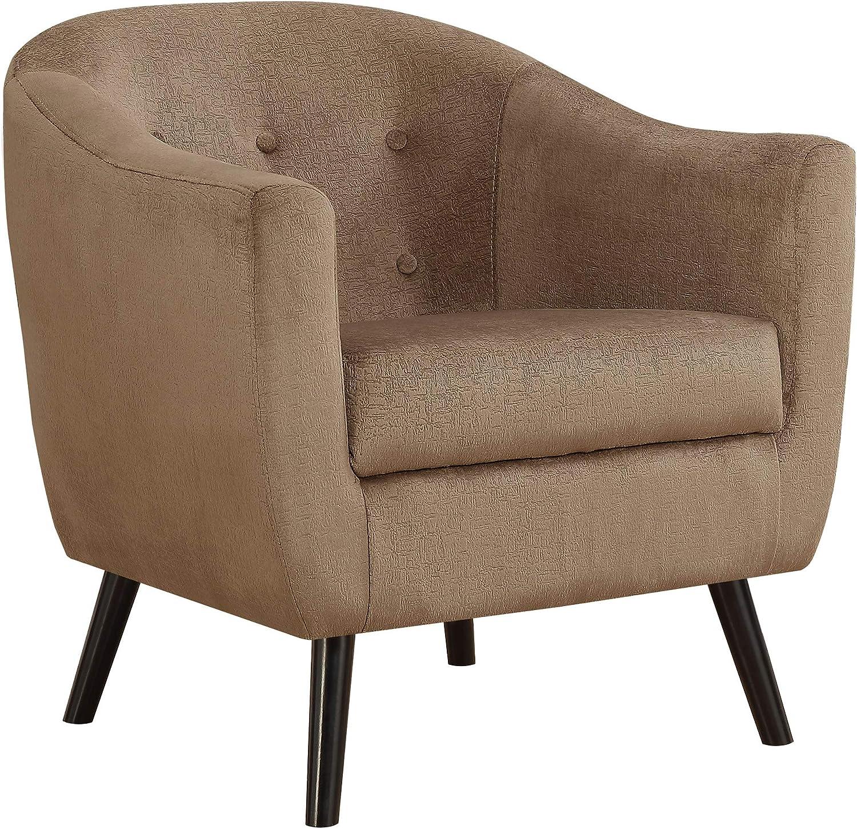 Monarch Specialties Accent Chair - Light Brown Mosaic Velvet