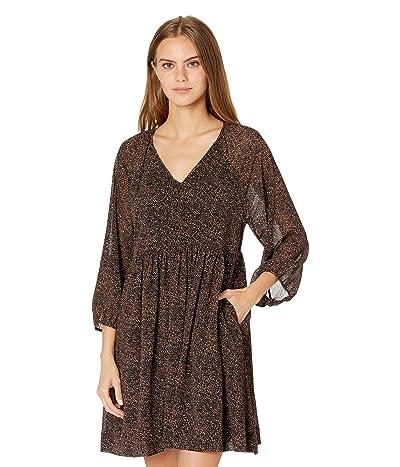 Madewell Long Sleeve Tiered Easy Dress in Leopard Women