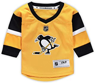Outerstuff Pittsburgh Penguin Blank Yellow Alternate Infants Toddler Replica Jersey