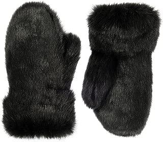 Futrzane Winter Gloves Women Men Mittens Made Of Rabbit Faux Fur