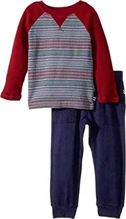 Splendid Littles - Print Stripe Raglan Pants Set (Infant)