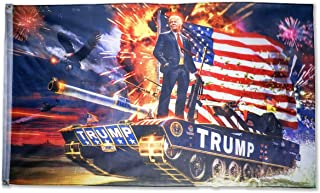 DFLIVE Donald Trump Tank Flag for President 2020 Keep America Great Flag 3x5 FT with Grommets