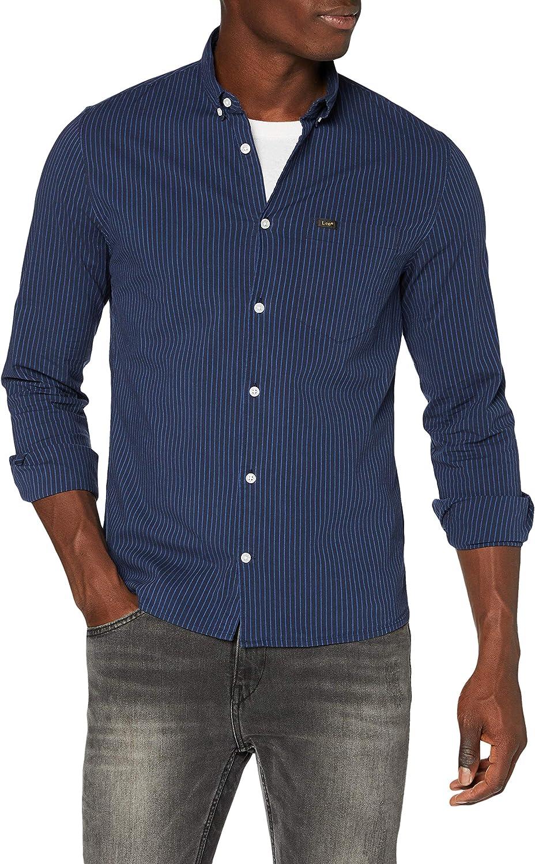 Lee Slim Button Down Camisa con Botones para Hombre: Amazon ...