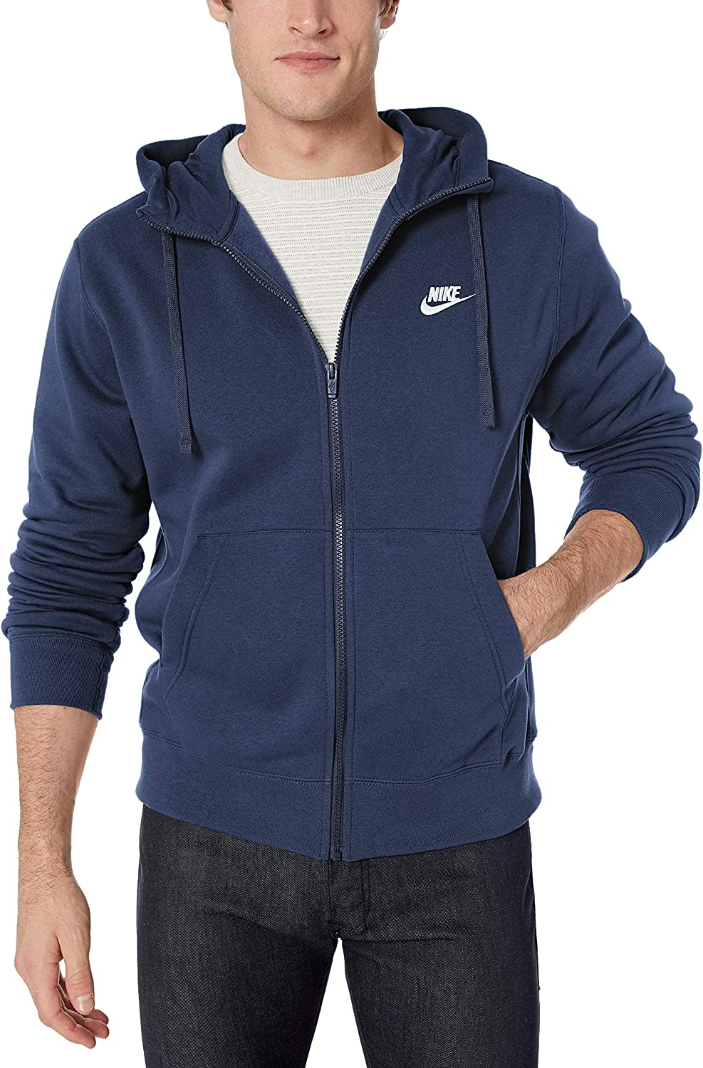 Nike Men's NSW Club Special price for a limited time Hoodie Houston Mall Full Zip