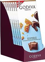 Godiva Chocolatier 90g Milk Chocolate Salted Caramel Tablet Bar, Chocolate Caramel, Milk Chocolate and Caramel Bar, Candy Bars, 31.75 Ounce, 10 Pack
